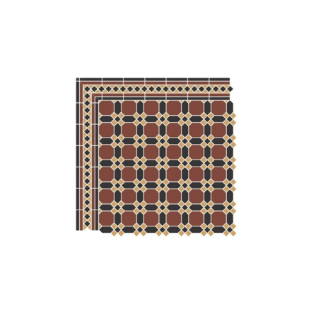 Golvklinker Guilford, Brick red/ black/ Yellow ochre
