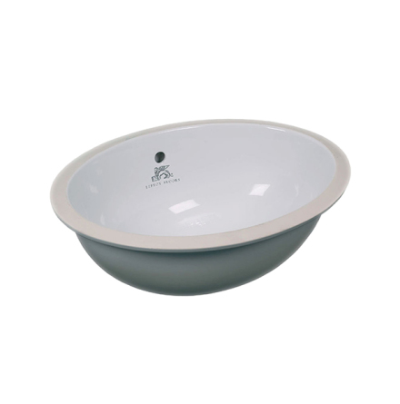 Edwardian Oval Underfixing Basin - WH