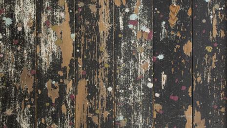 Artist Studio Floor - Painted Oak