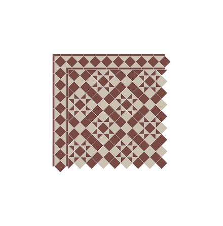 Golvklinker Glasgow - Brick Red & Beige