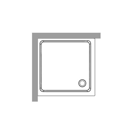 Duschkar 80x80