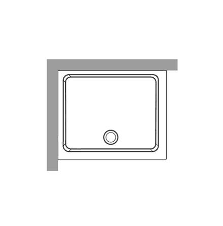 Duschkar 80x96 - Vänster