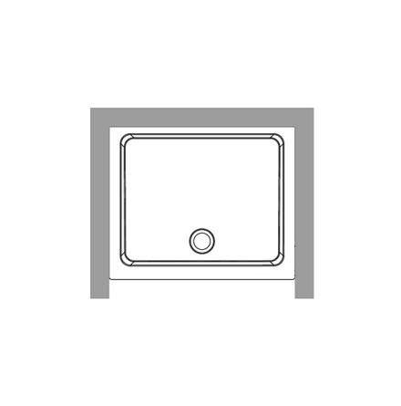 Duschkar 80x96 - Nisch