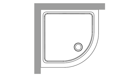 Duschkar 80x80 - Radie