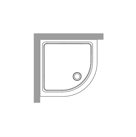 Duschkar 90x90 - Radie