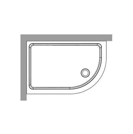 Duschkar 80x120 - Höger