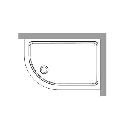 Duschkar 80x120 - Vänster