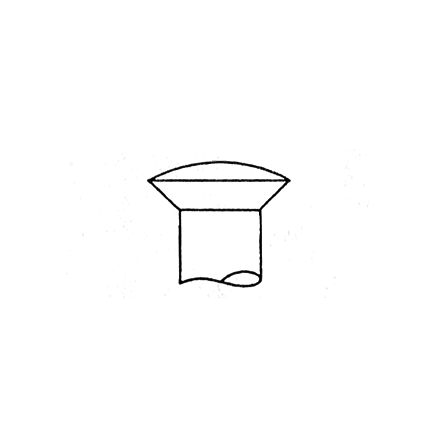 Mässingsskruv kullrig, Gauge 2 - 2,08 mm