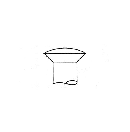 Mässingsskruv kullrig, Gauge 10 - 4,88 mm