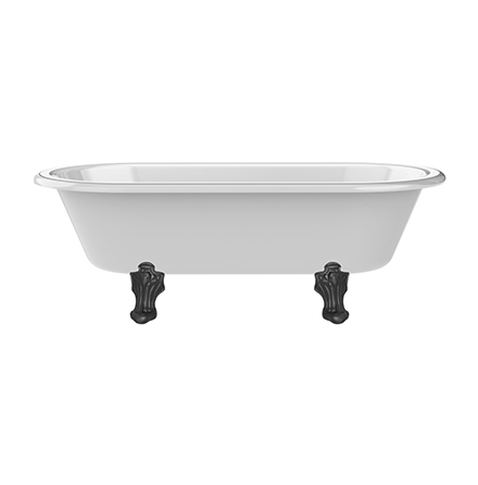 Ashcombe 1937x 927mm Double Ended Bath with Overflow - Gloss White