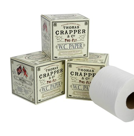 Decorative WC paper, pack of 3 rolls
