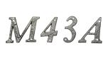 Husnummer, typsnitt 1979 i Mässing, 76mm