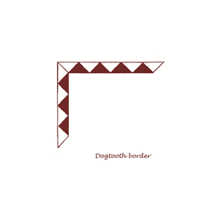 Tegelgolv - Dogtooth (bård)