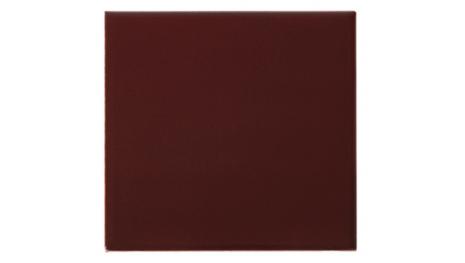 Slätt kakel 152x152 mm, Burgundy