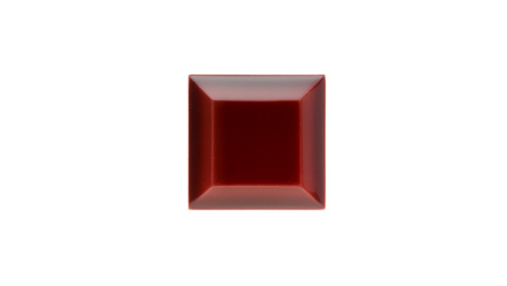 Kakel med fasad kant (slaktarkakel) 75x75x10 mm, Burgundy