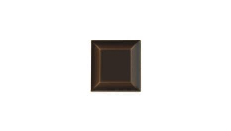 Kakel med fasad kant (slaktarkakel) 75x75x10 mm, Chocolate