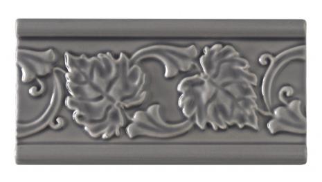 Kakel list LEAF 152x76 mm, Victorian Grey
