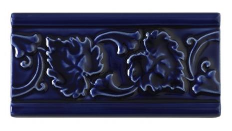 Kakel list LEAF 152x76 mm, Victorian Blue