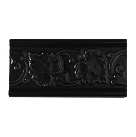 Kakel list LEAF 152x76 mm, Victorian black