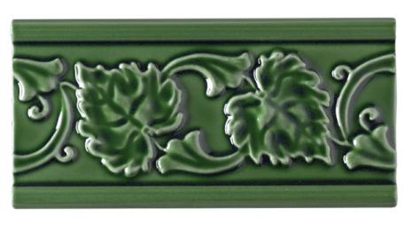 Kakel list LEAF 152x76 mm, Apple green