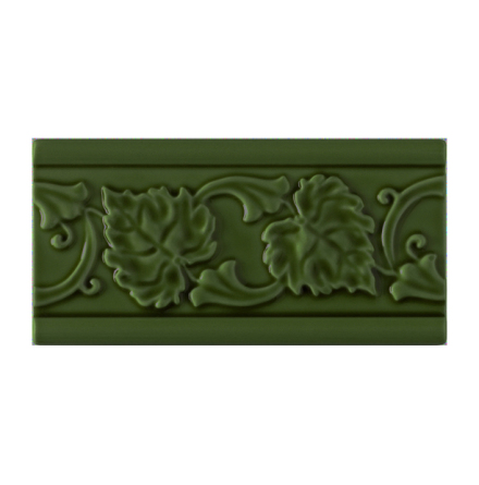 Kakel list LEAF 152x76 mm, Jade