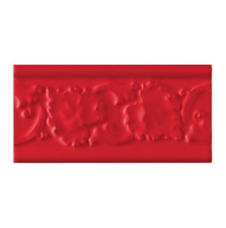Kakel list LEAF 152x76 mm, Victorian red