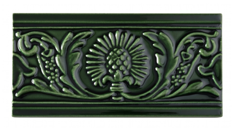 Kakel list Thistle 152x76 mm, Victorian green