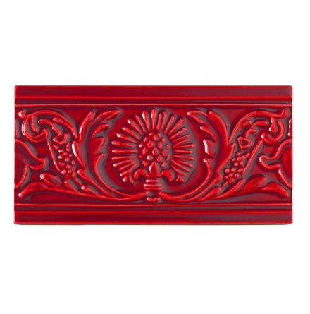 Kakel list Thistle 152x76 mm, Victorian red