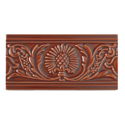 Kakel list Thistle 152x76 mm, Victorian brown
