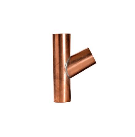 Koppar - Grenrör Runt 80 mm