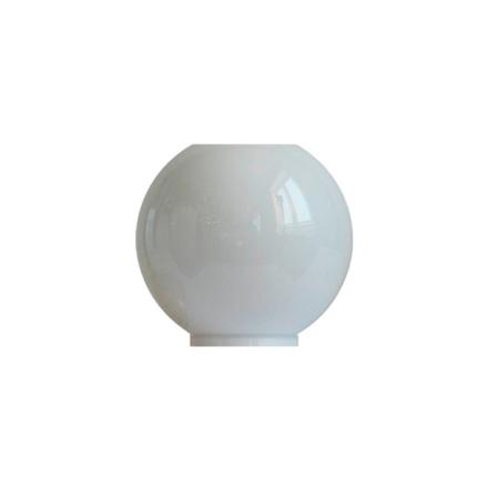 Opalvit munblåst fotogenkupa 84-86 mm. HxB: 160x160 mm.